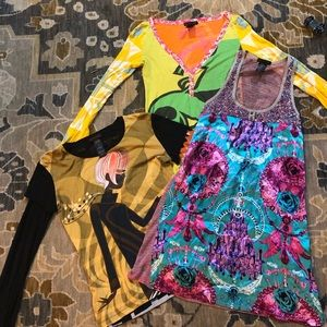 Custo Barcelona Sz 4 lot of 3 shirt dress top